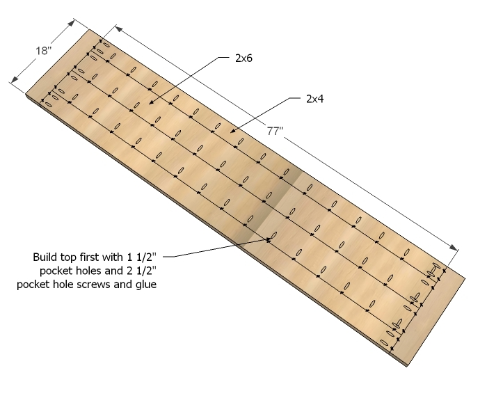 In Fact, You Can Just Do A Panel Glue Up Without Any Pocket Holes And Be  Fine.