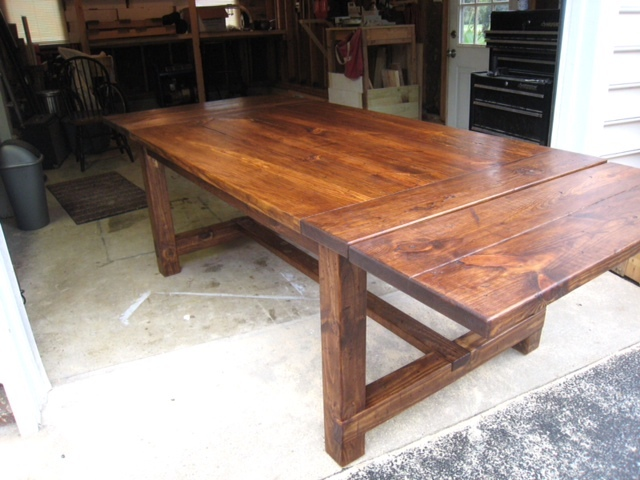 Ana White Farmhouse Table With Extenstions Diy Projects