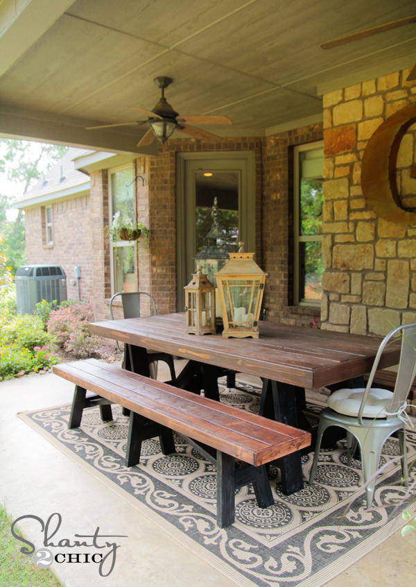 Ana White Sawhorse Outdoor Bench Diy Projects