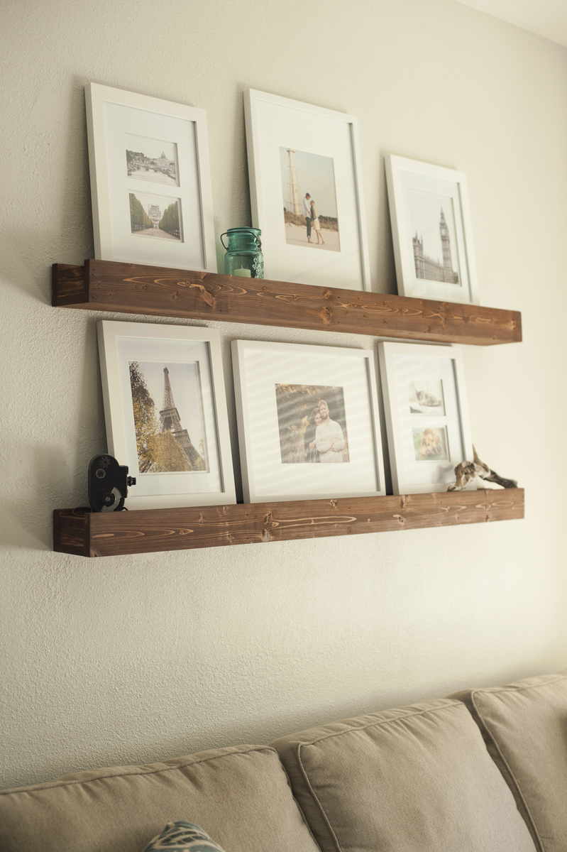 We adapted the original barn beam ledge plans on a much larger scale ...