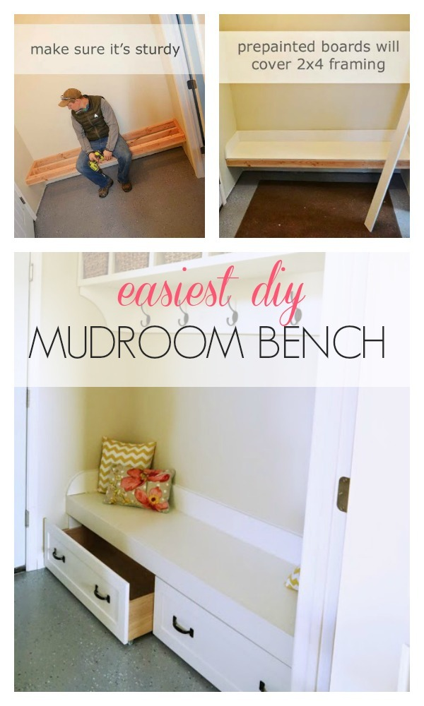 Enjoyable Framing Up A Mudroom Bench In A Nook Ana White Pabps2019 Chair Design Images Pabps2019Com