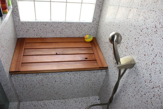 Building A Shower Seat : Building a Shower Bench Seat