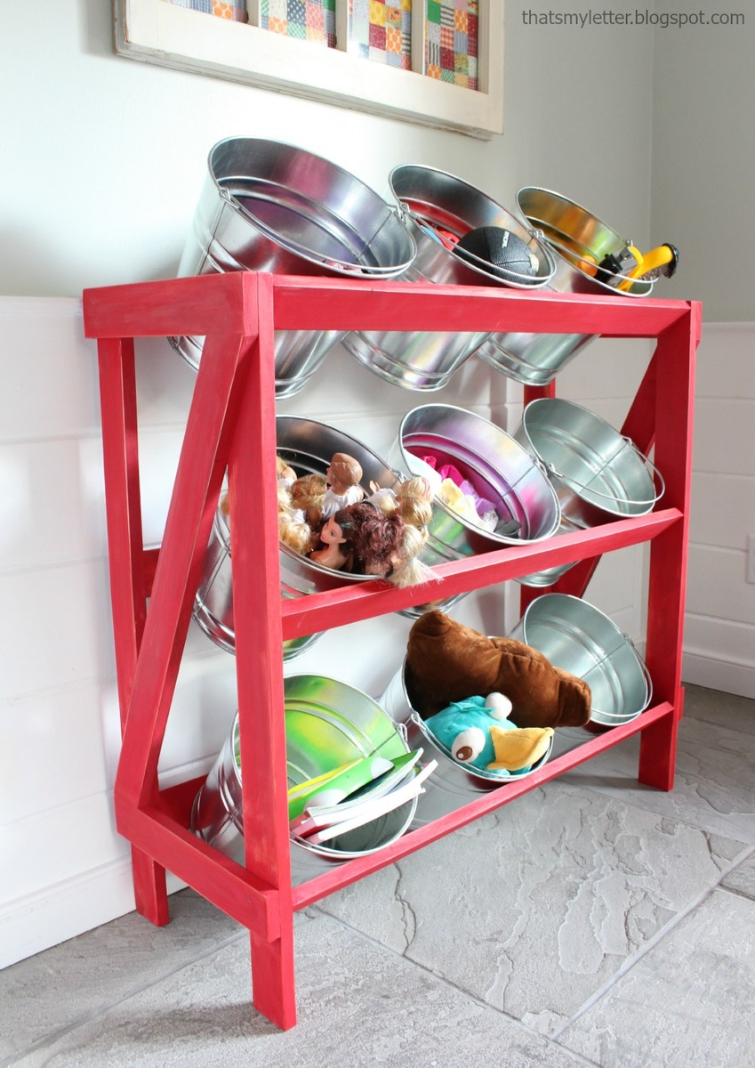 Exhibition Stand With Shelves : Ana white diy bucket or basket shelf display stand
