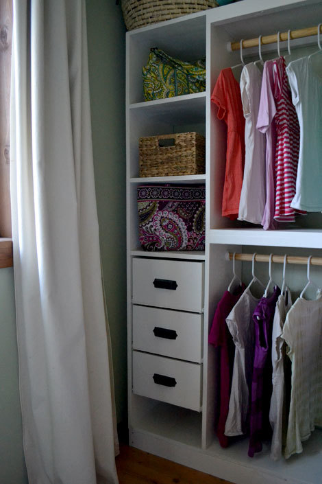 Ana white master closet system drawers diy projects for Diy clothes closet
