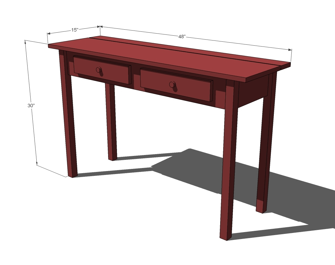Project working free plans console table for 10 inch depth console table