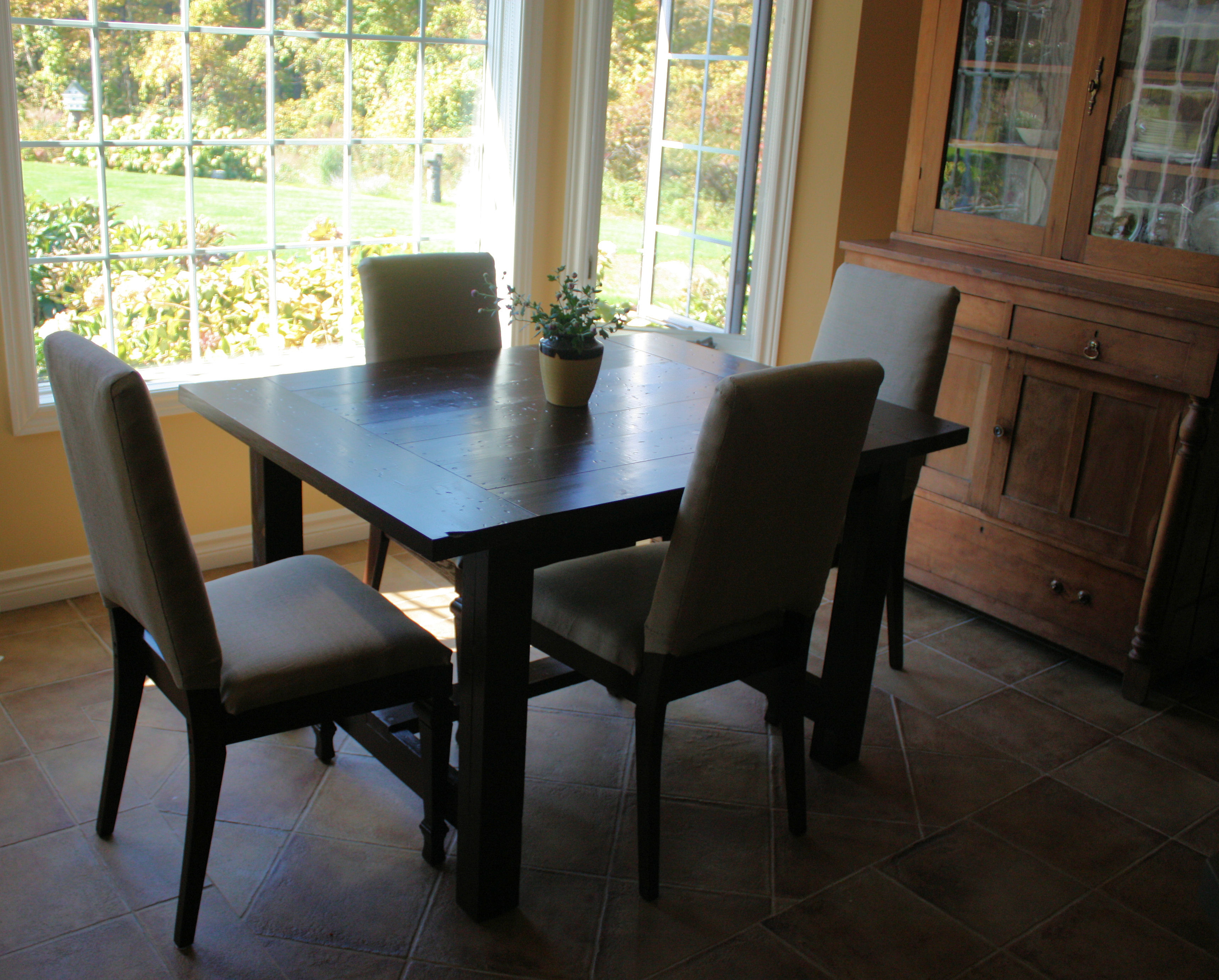 Ana White Super Big Farmhouse Dining Table And Bench