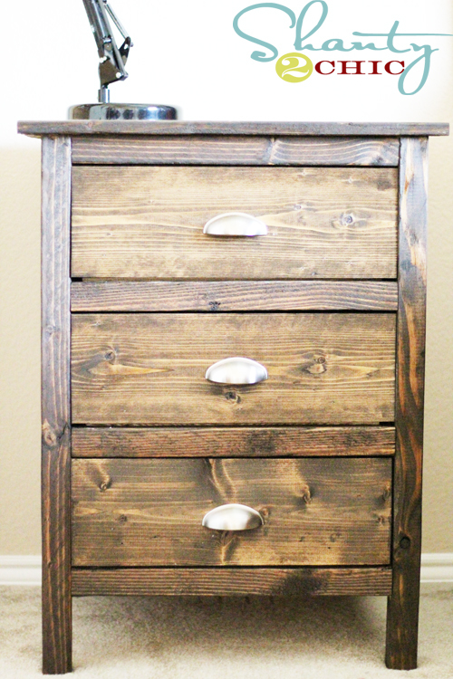 Ana white reclaimed wood night stand diy projects for White wood nightstand