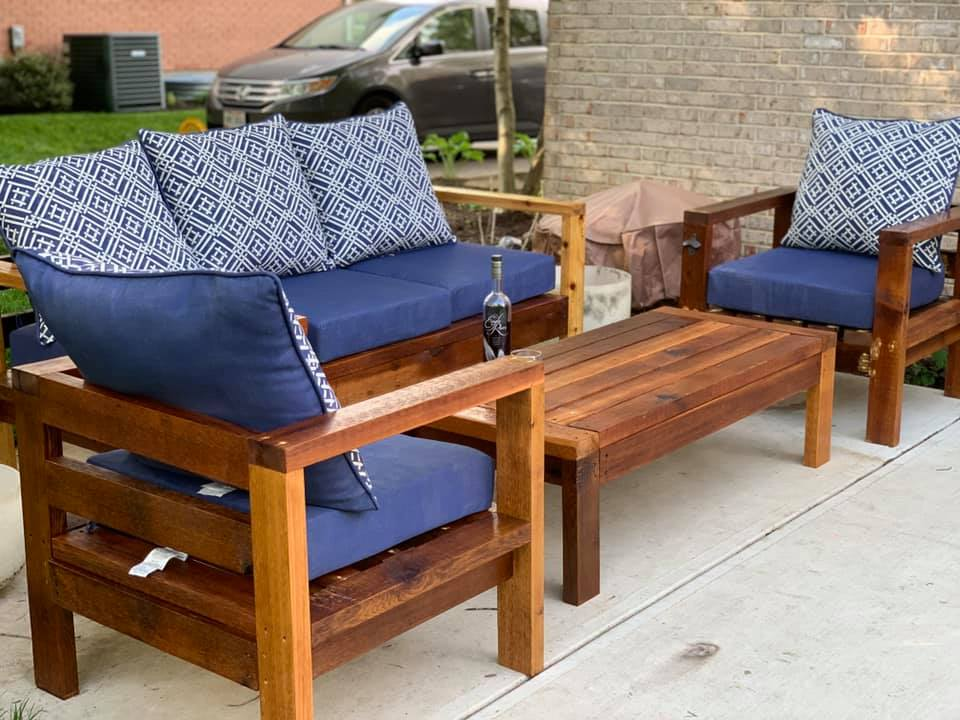 2x4 outdoor chairs