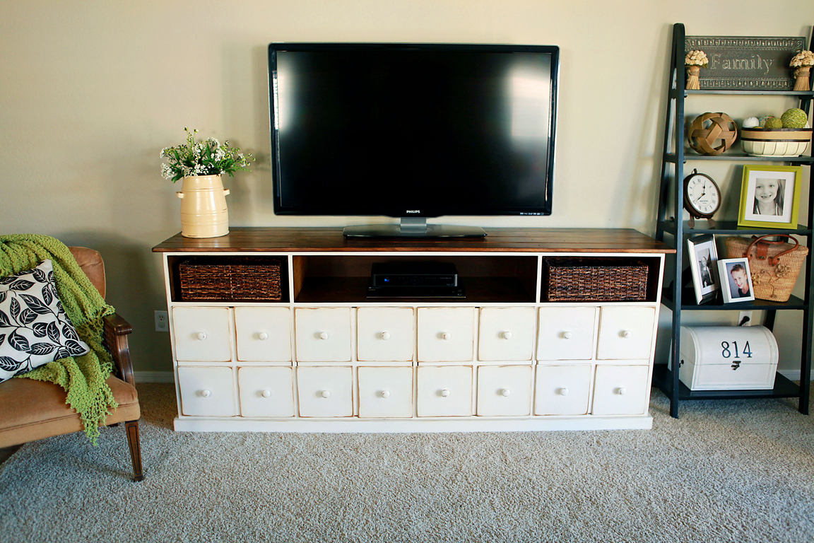 Ana white apothecary media console diy projects
