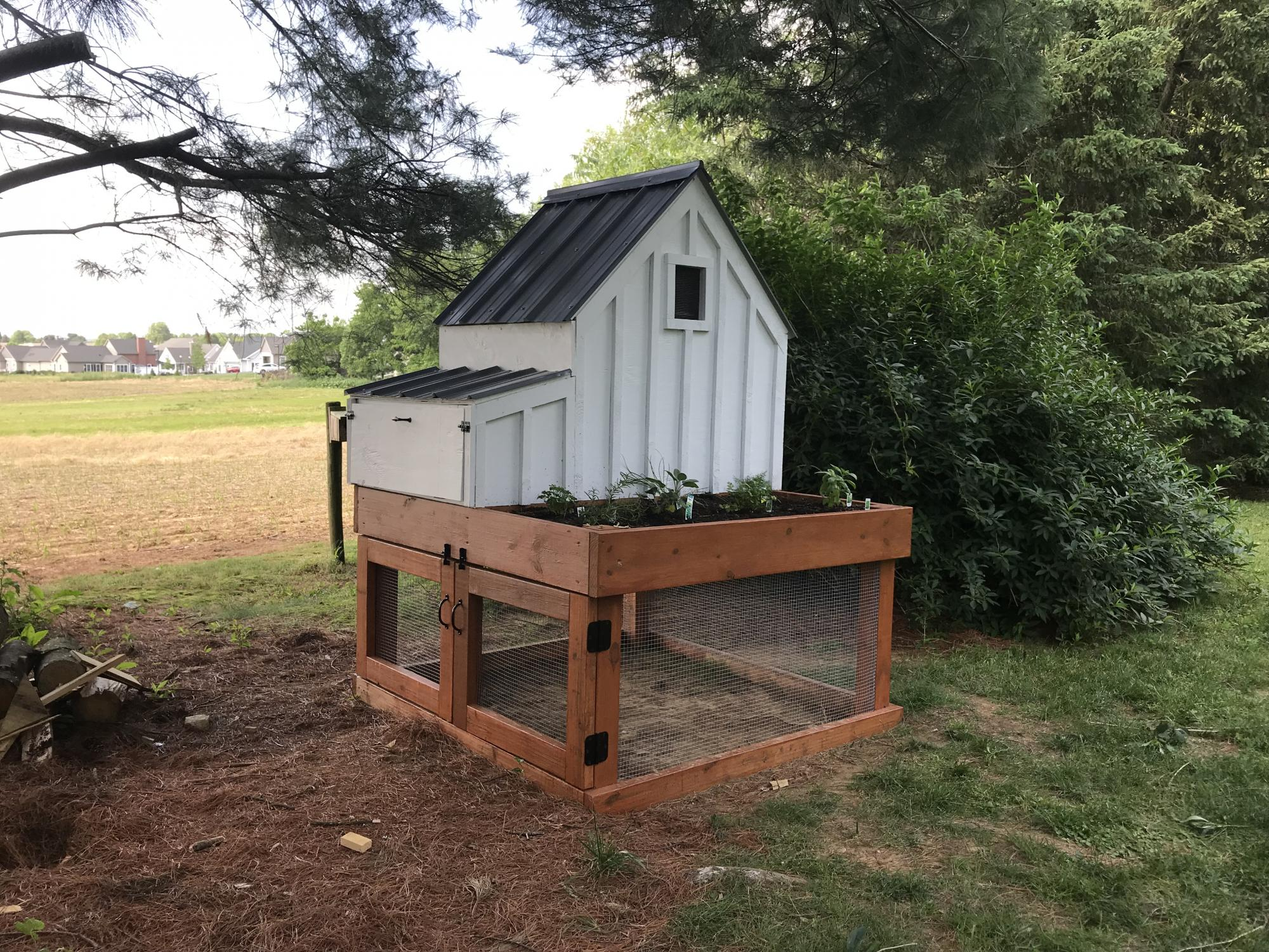 Small Chicken Coop With Planter Ana White