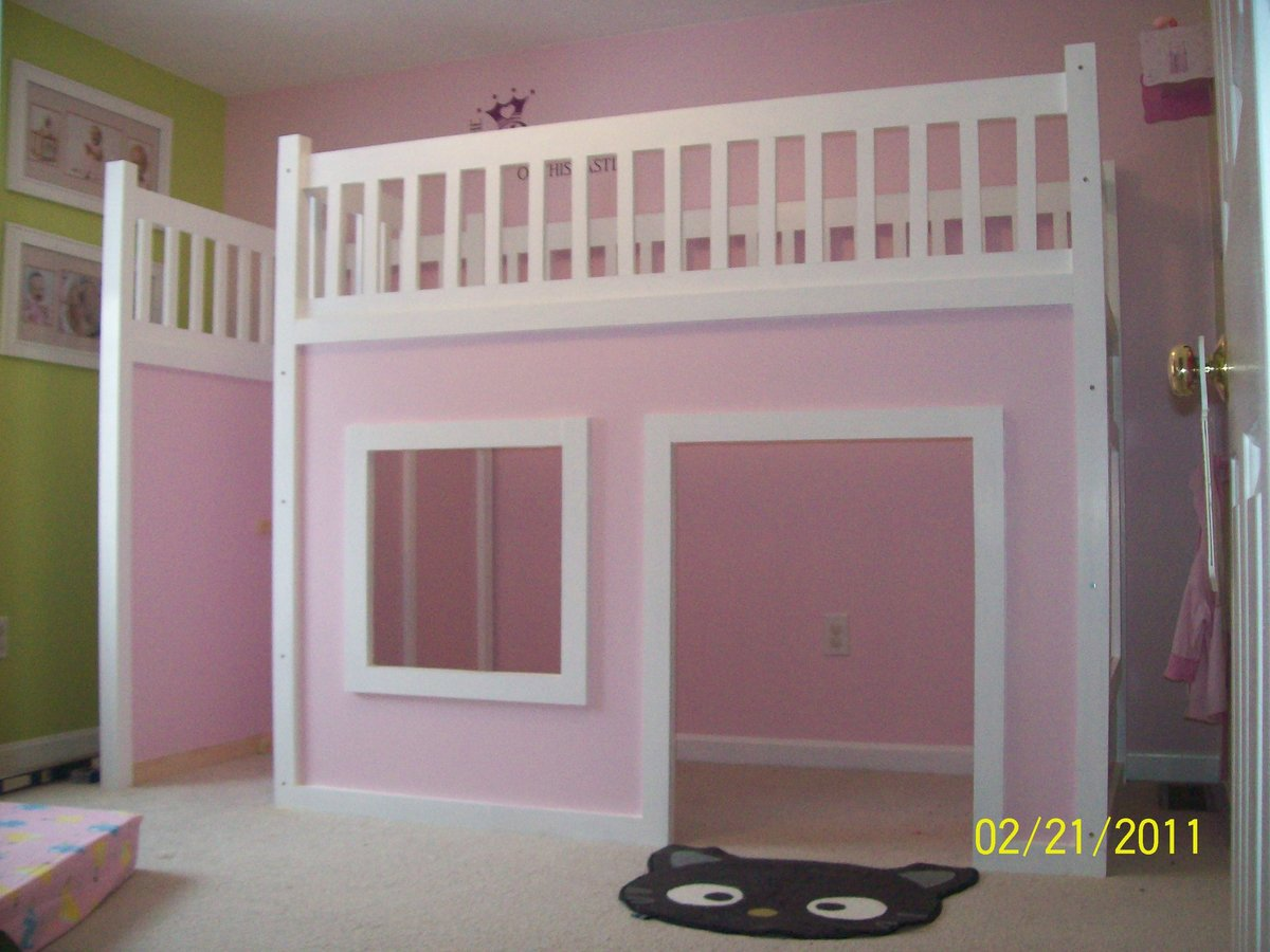 ana white playhouse loft bed diy projects. Black Bedroom Furniture Sets. Home Design Ideas
