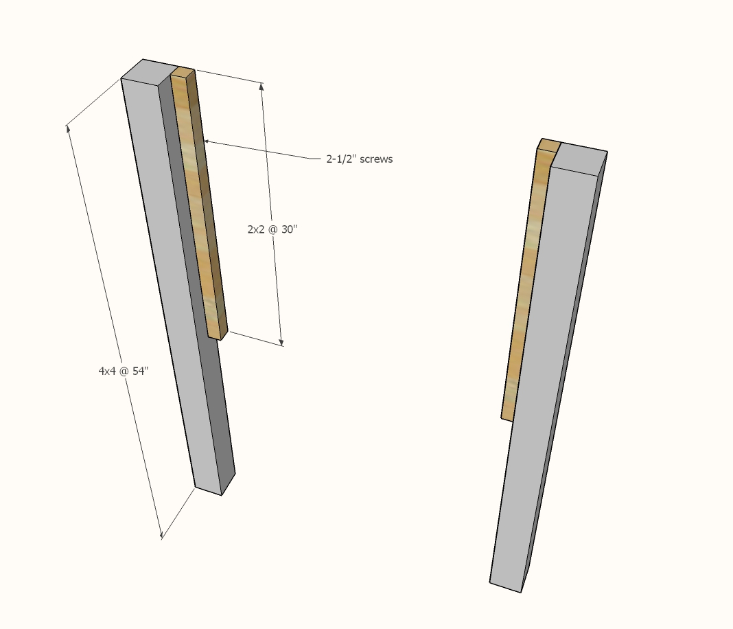 diagram of cleats attached to headboard legs
