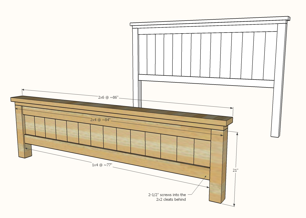 diagram of footboard construction