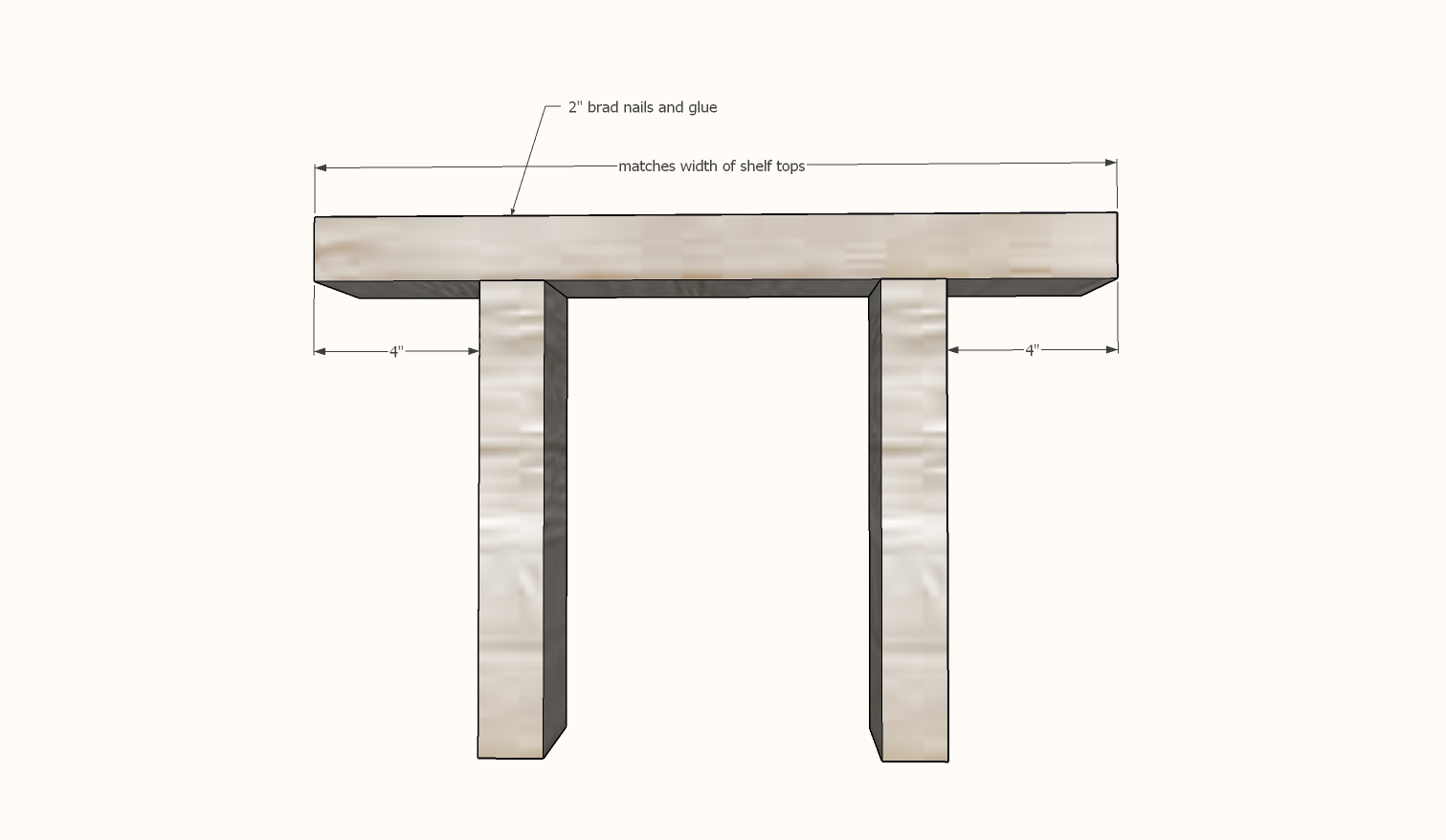 modern farmhouse coffee table plans