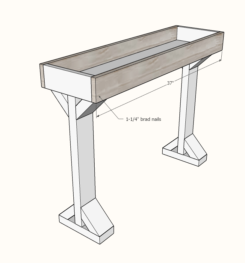 narrow console table step 5