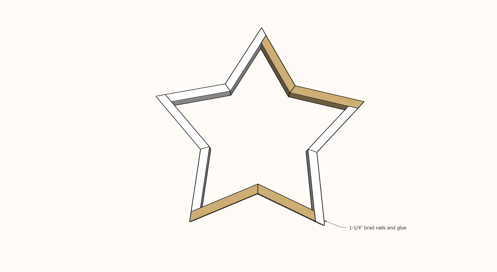 wood star step 3