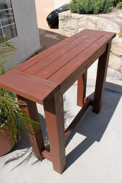 outdoor bar table plans