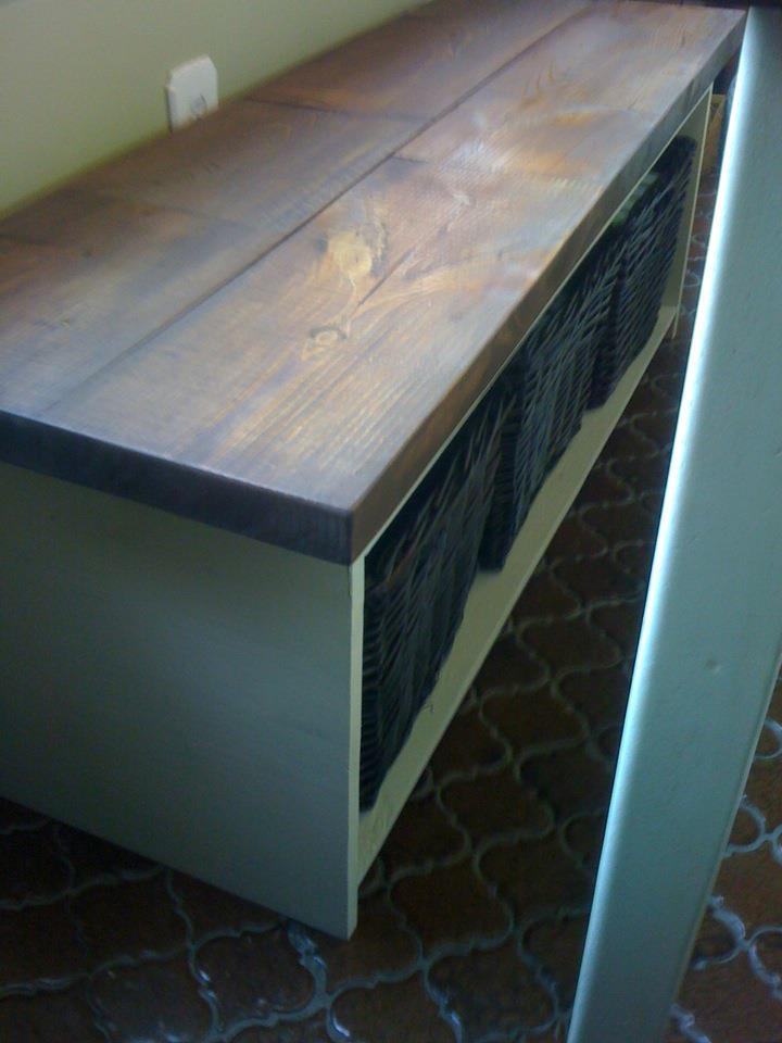 Kitchen Table Storage Bench | Do It Yourself Home Projects from Ana ...