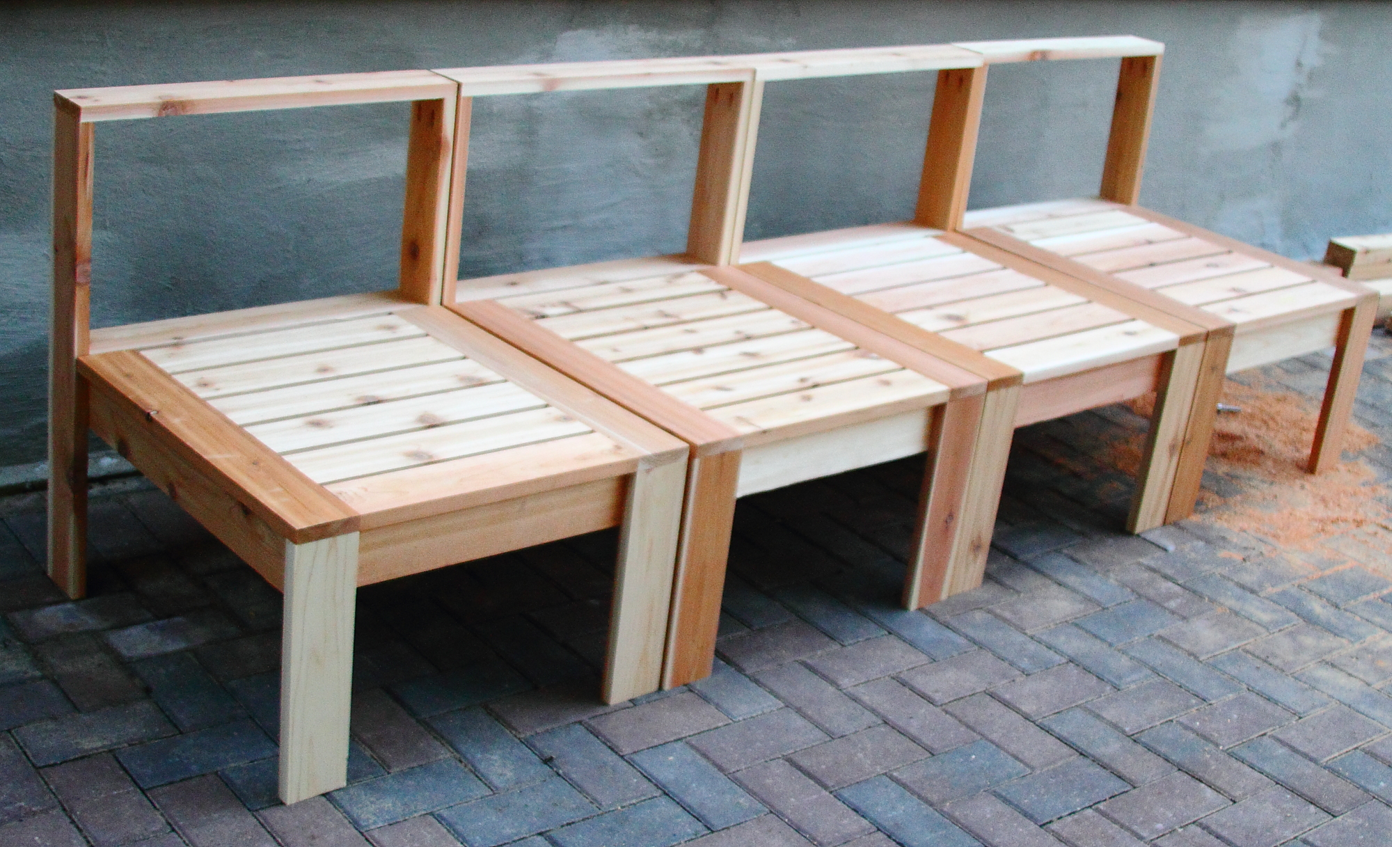 Woodwork diy patio furniture pdf plans for Homemade outdoor furniture plans