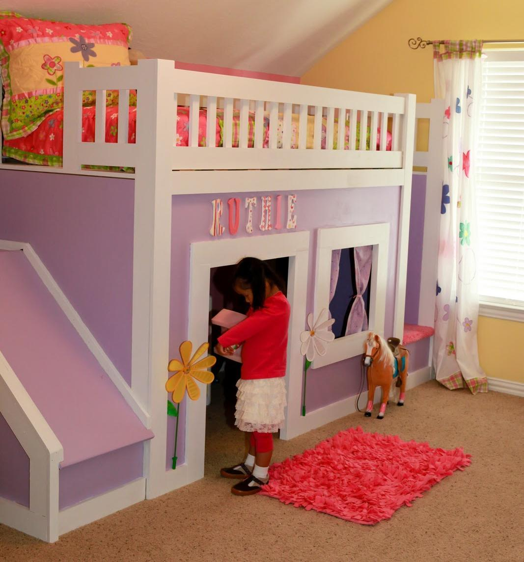 Princess Bed With Stairs And Slide Ana White Woodworking
