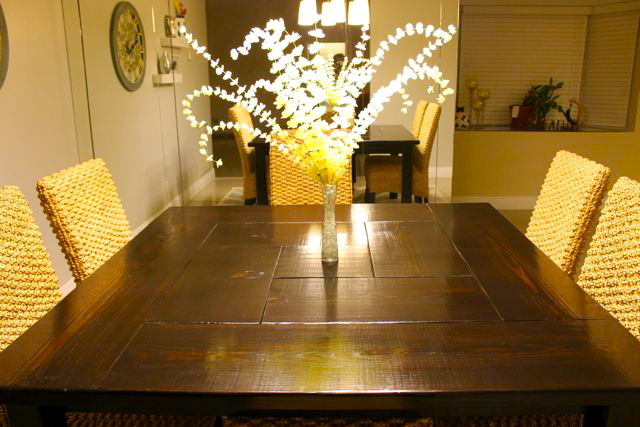 square farmhouse dining table plans