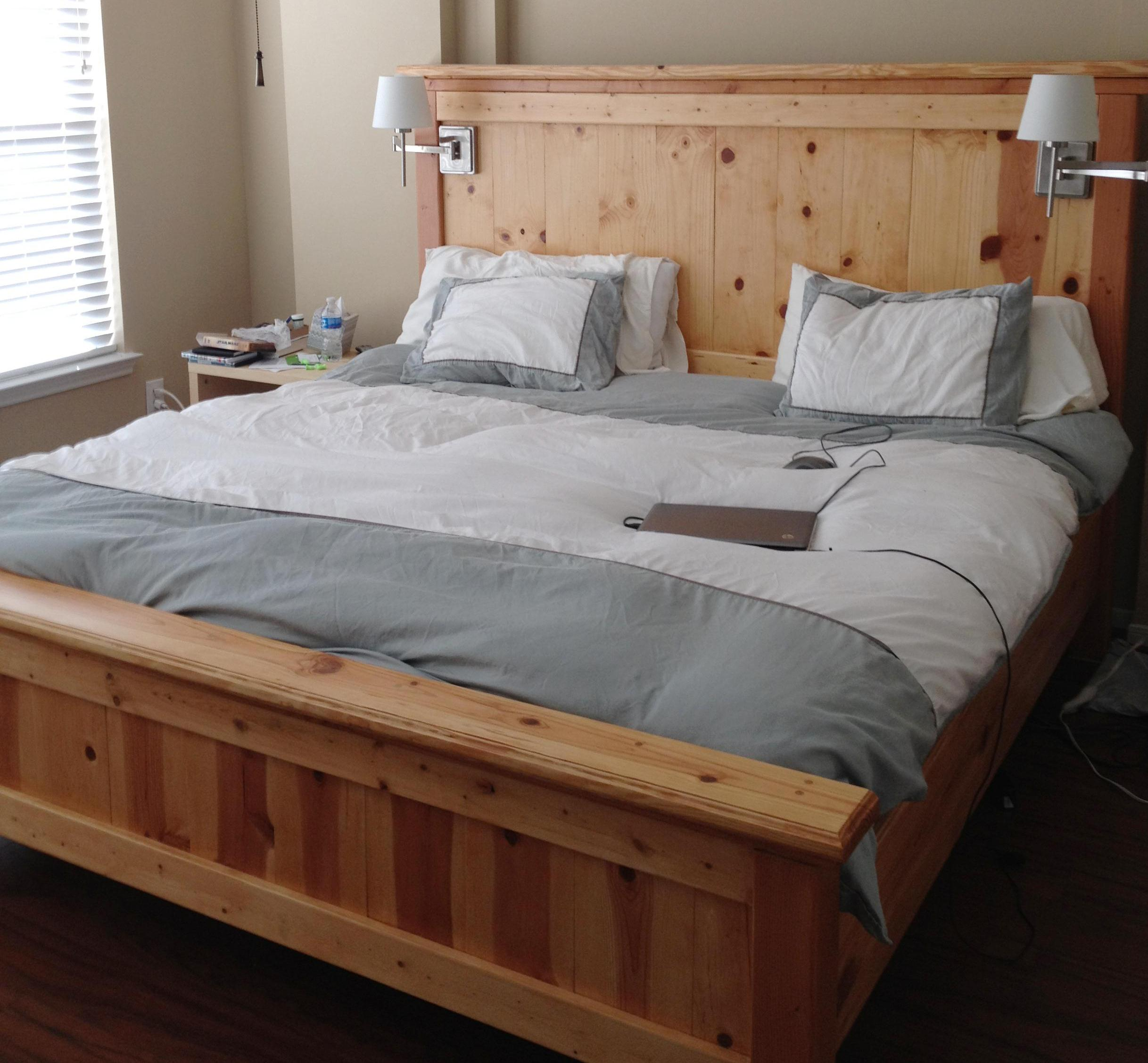 bed frame plans king