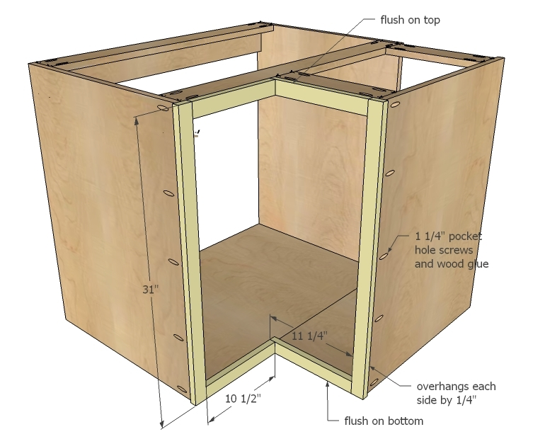 Kitchen Corner Cabinet Construction
