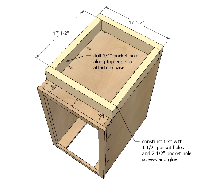 Building kitchen base cabinets how to build kitchen base for Building kitchen cabinets