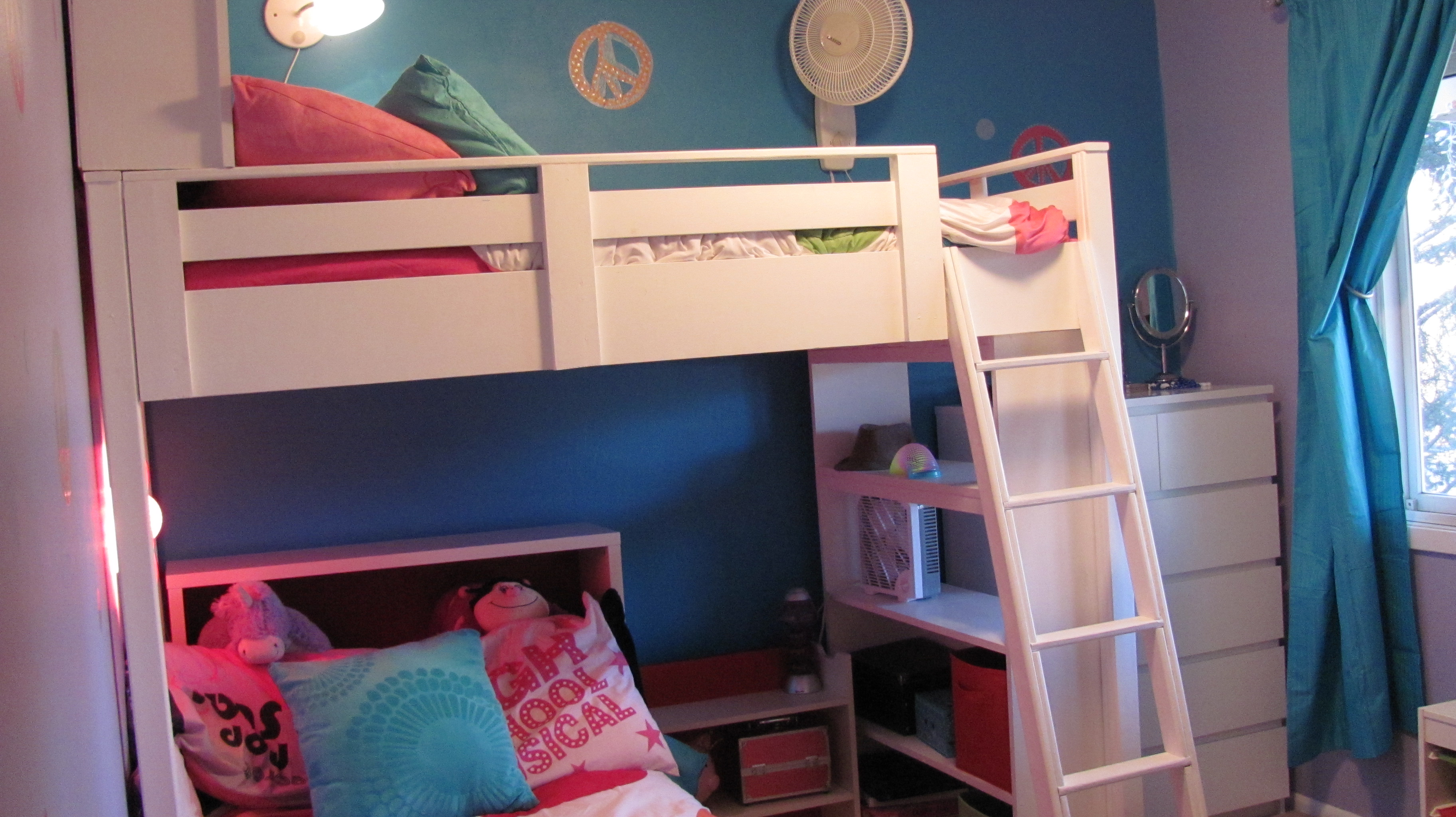 Loft Bed w/ Bookcase and Headboard | Do It Yourself Home Projects ...