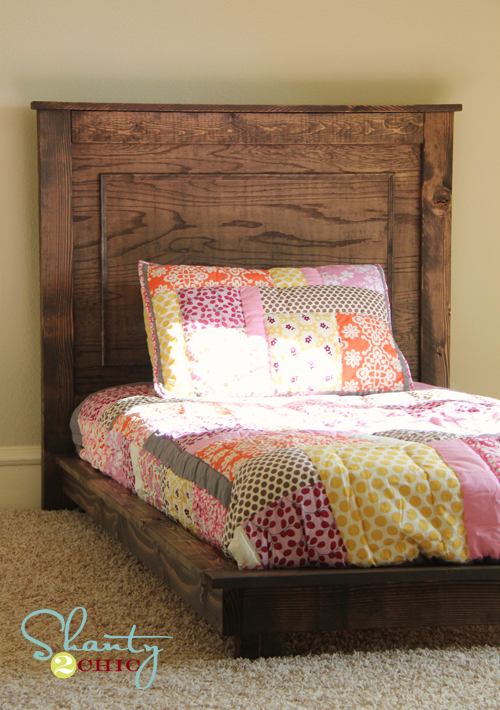 farmhouse platform bed with storage