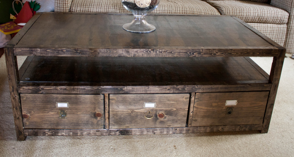 Ana white rhyan coffee table diy projects for Diy coffee and end tables
