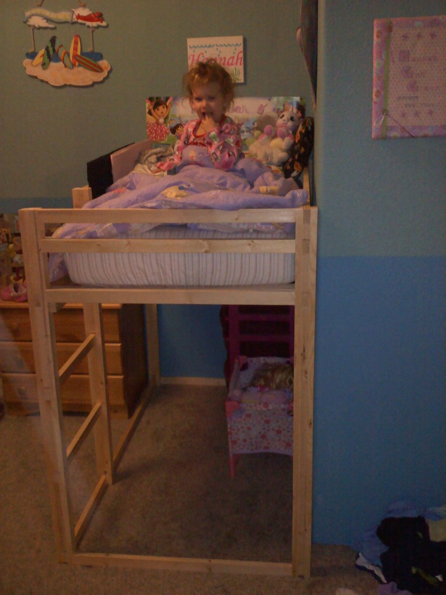 Toddler size loft bed | Do It Yourself Home Projects from Ana White
