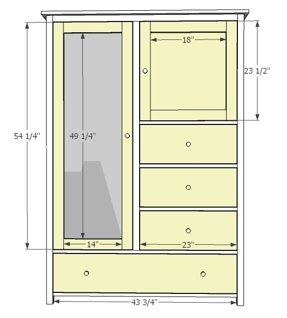 Ana White Mirrored Door Wardrobe Diy Projects