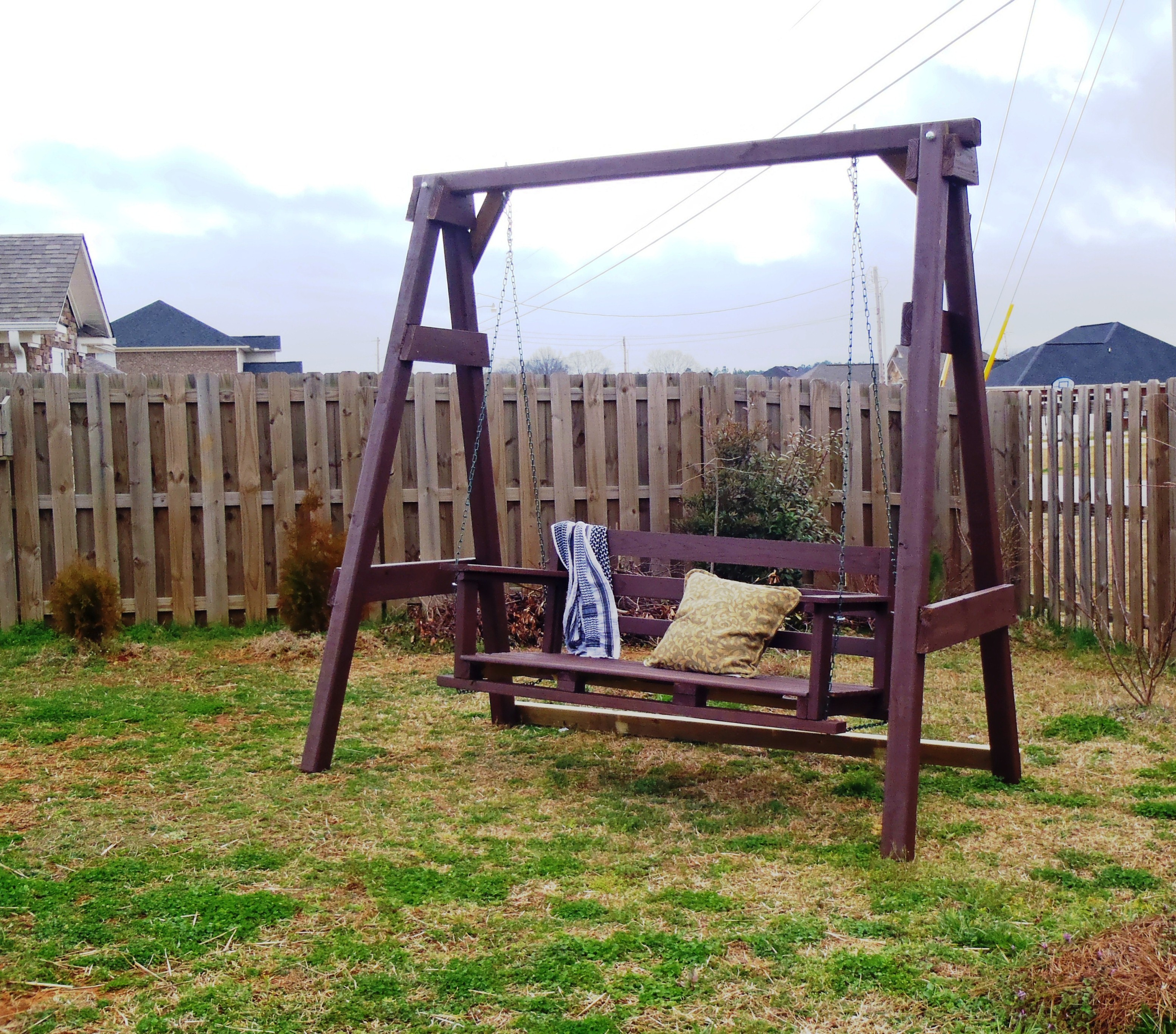 Ana white swing set diy projects for Building plans for a frame swing set