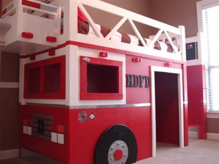 Ana White | Fire Truck Loft Bed - DIY Projects