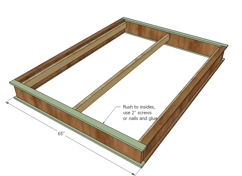 plans to build a queen size platform bed with drawers | Woodworking ...