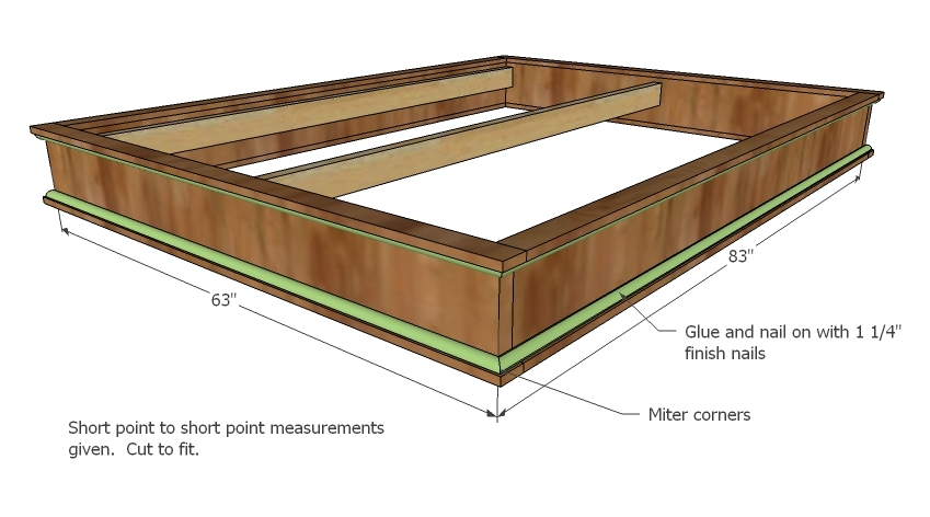 Woodworking plans queen size platform bed for House bed frame plans