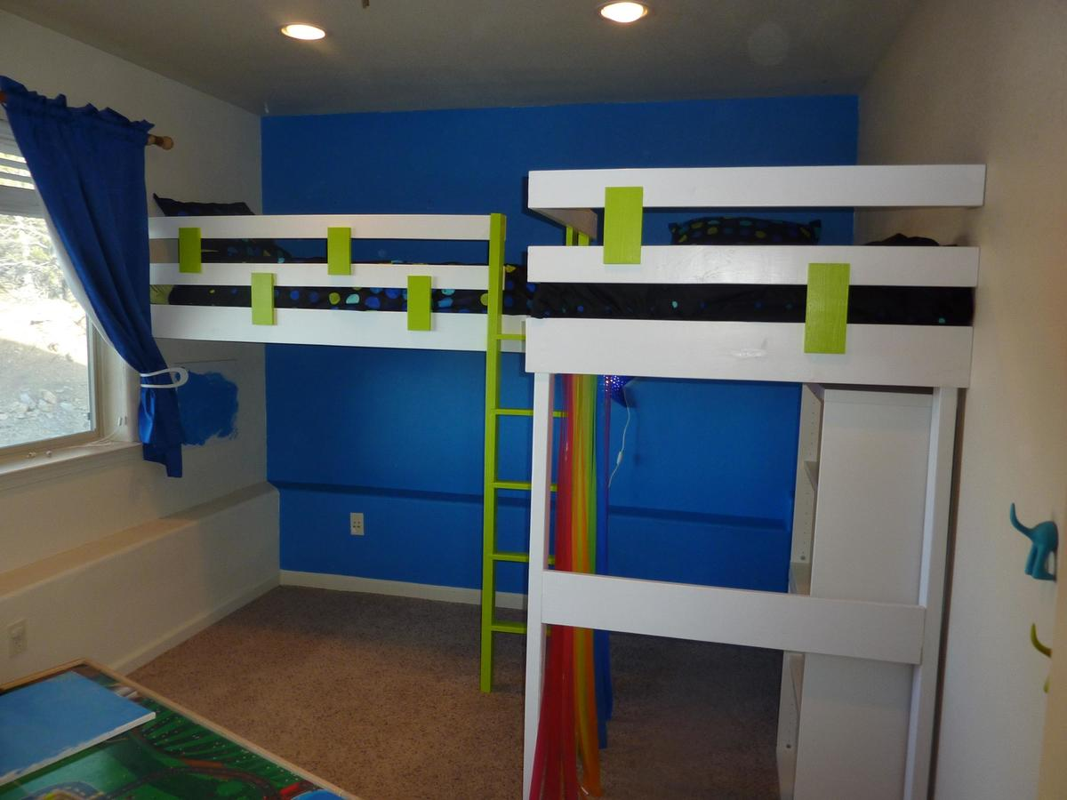double loft bed | Do It Yourself Home Projects from Ana White