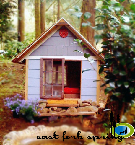 ana white east fork free doghouse or playhouse or With storage shed dog house