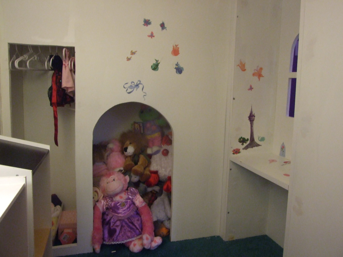 castle loft bed with stairs and slide
