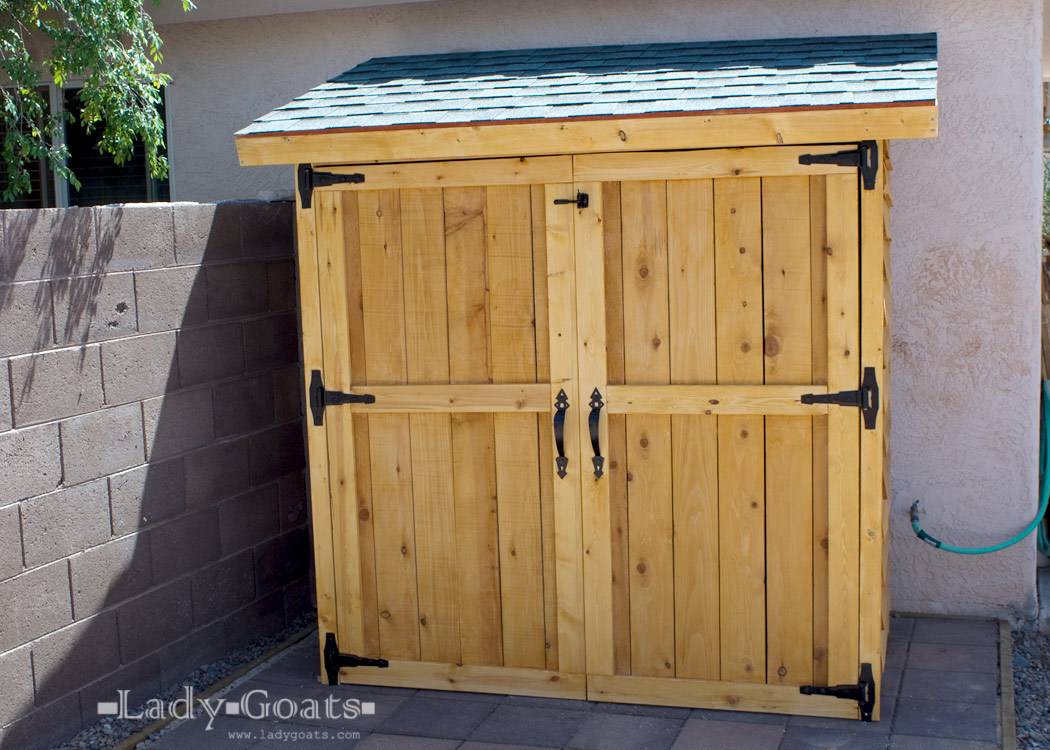 Gina sent me a link to a cedar shed with a retail price of $1600. Okay ...