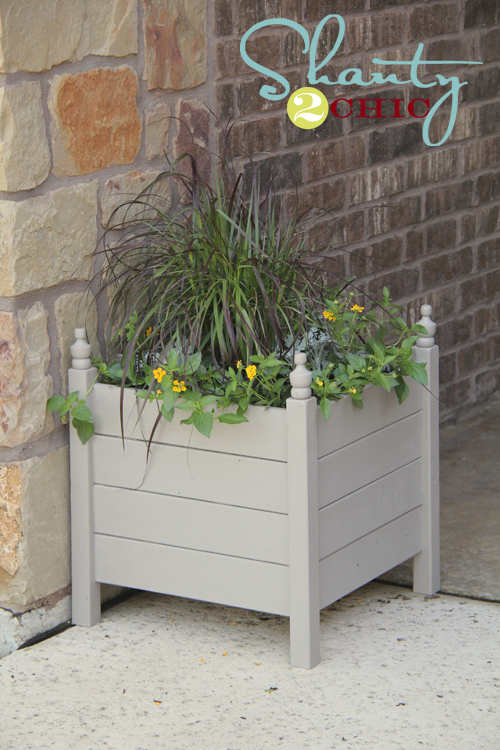 ana white square planters with finials diy projects. Black Bedroom Furniture Sets. Home Design Ideas