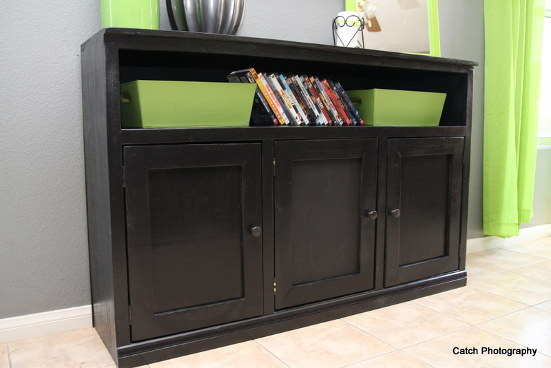 black media console woodworking plans