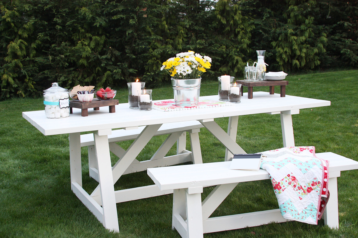 Ana white providence bench diy projects for Ana white table bench