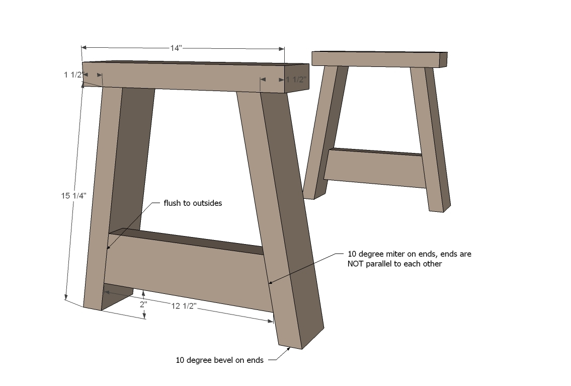 Ana white providence bench diy projects for Cool things to build with 2x4s