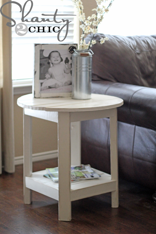 make this side table inspired by pottery barn benchwright side table ...