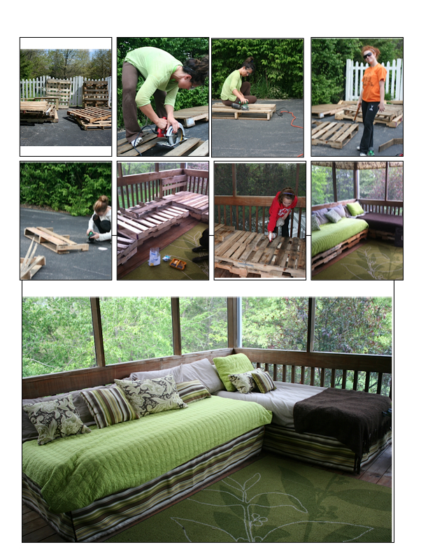 Twin Bed Made From Pallets