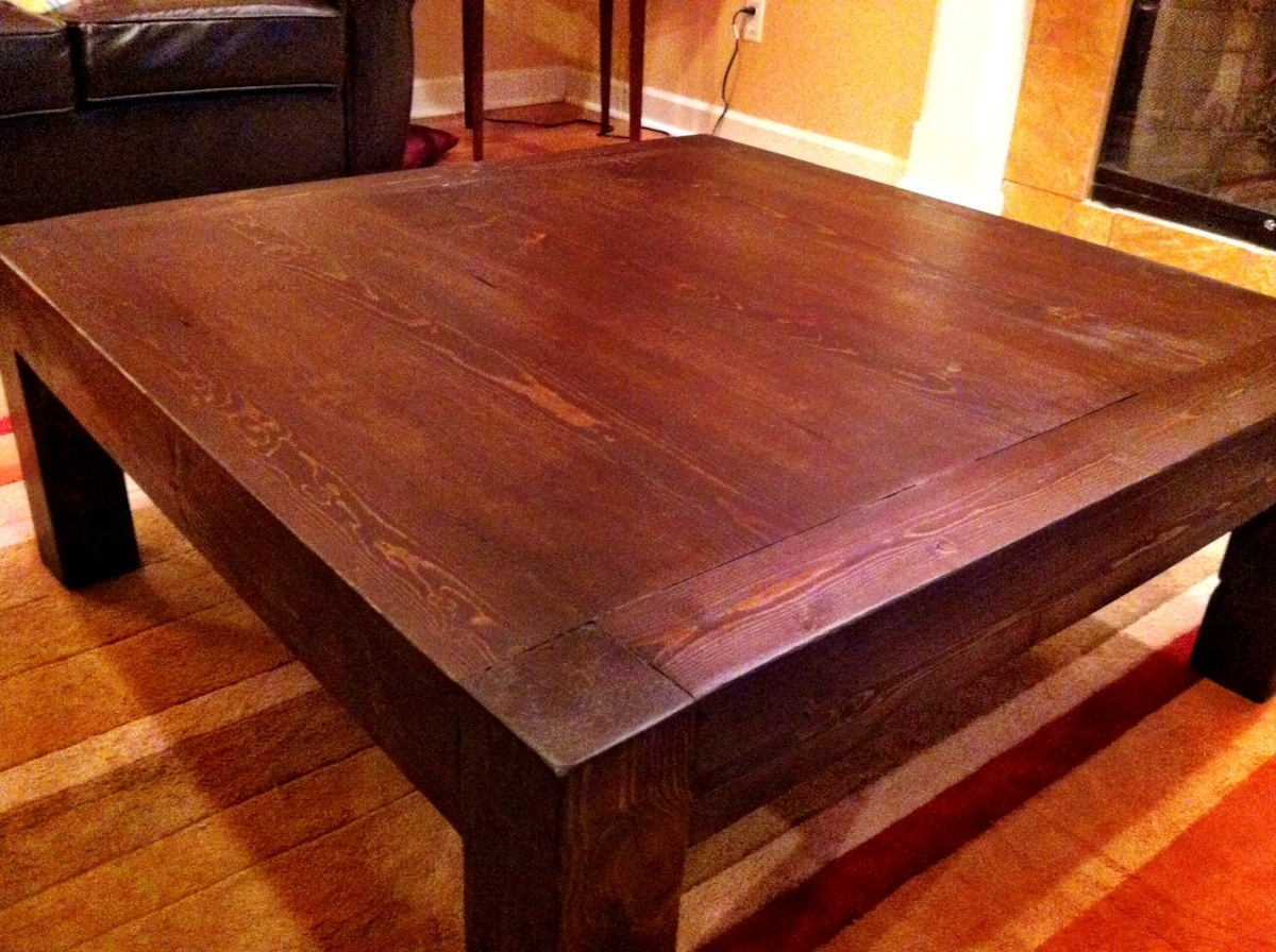 Ana white itable diy projects Homemade coffee table plans
