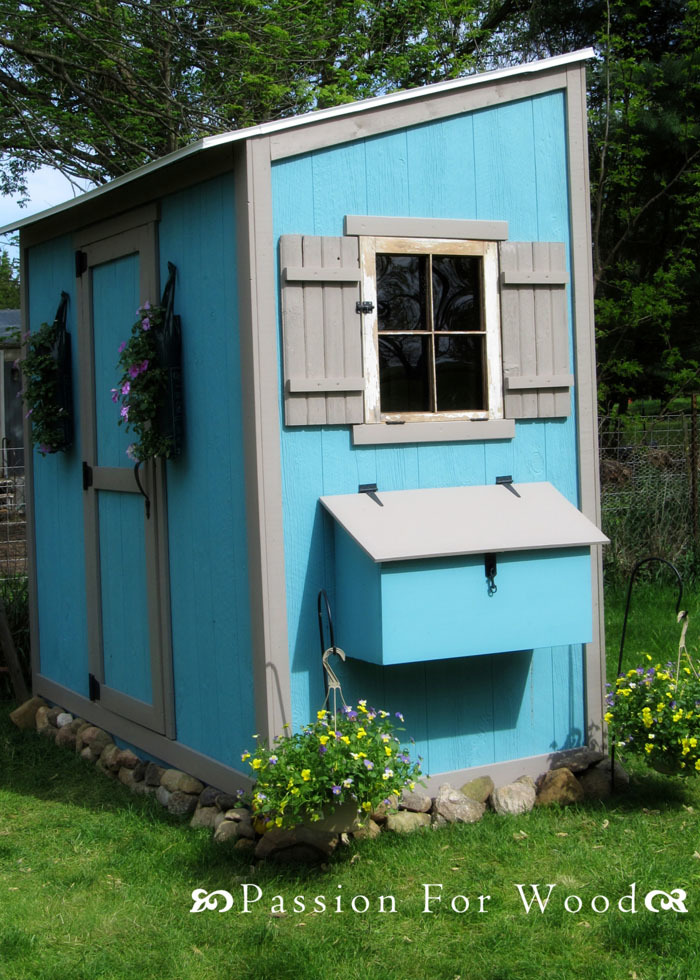 Front of Shed Chicken Coop