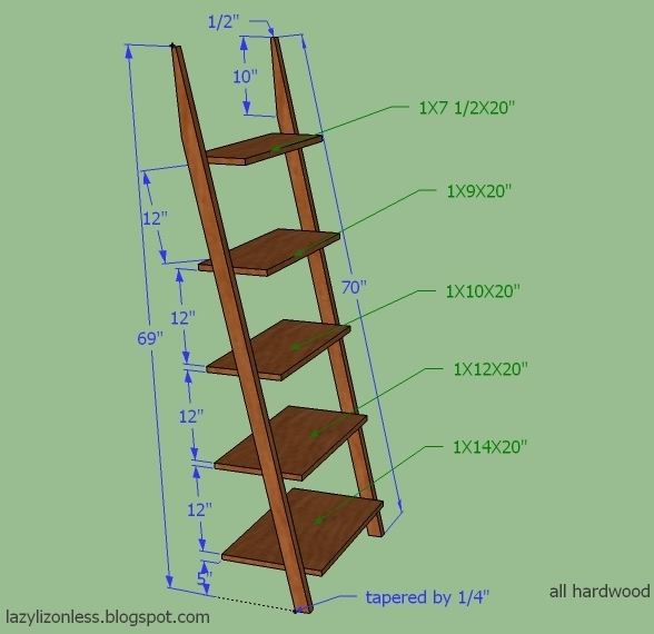 Leaning Ladder Shelf Plans 588 x 570